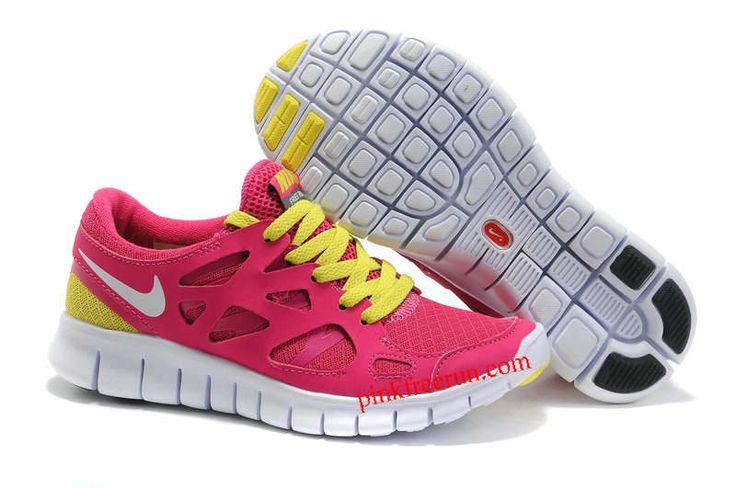 Nike Free Run 2 Des Femmes De Fil Blanc Rose Clair