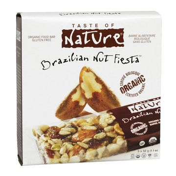 Taste of Nature Organic Food Bar - Brazilian Nut Fiesta - 5x32g