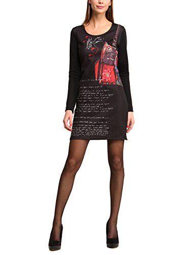 Desigual - Vestito, Manica lunga, Donna, nero (Schwarz (NEGRO 2000)), L in OFFERTA su www.kellieshop.com Scarpe, borse, accessori, intimo, gioielli e molto altro.. scopri migliaia di articoli firmati con prezzi da 15,00 a 299,00 euro! #kellieshop Seguici su Facebook > https://www.facebook.com/pages/Kellie-Shop/332713936876989