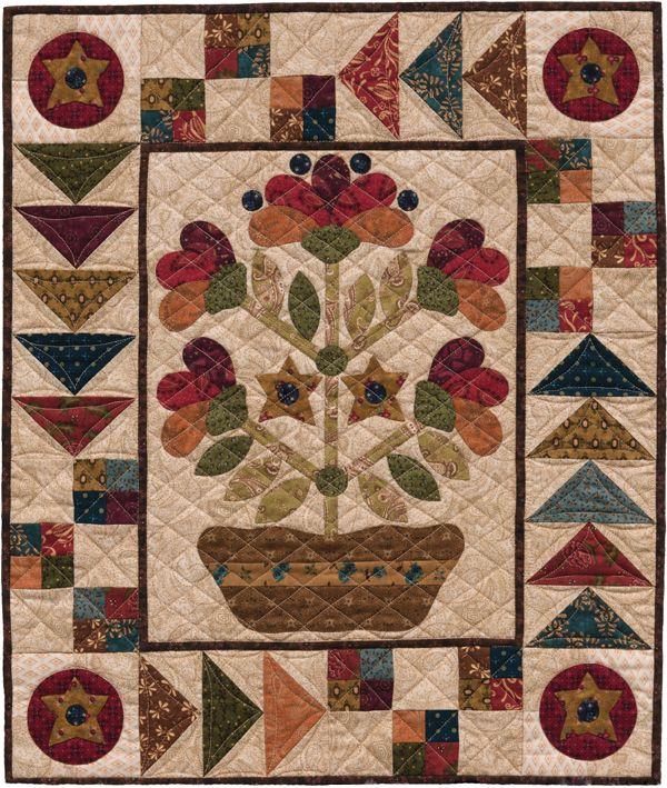Folk-Art Dish Garden quilt