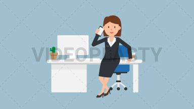 Corporate Woman Talking on the Phone