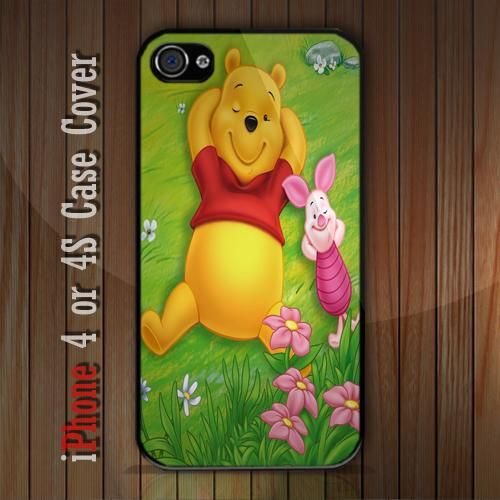 New Winnie the Pooh Piglet iPhone 4 or 4S case Cover iPhone case 4/4S - 1