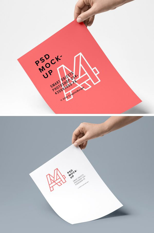 The free resource of the day is a neat PSD mock-up of a handheld A4 paper that will help you showcase your stationery designs with ease. To obtain a f...