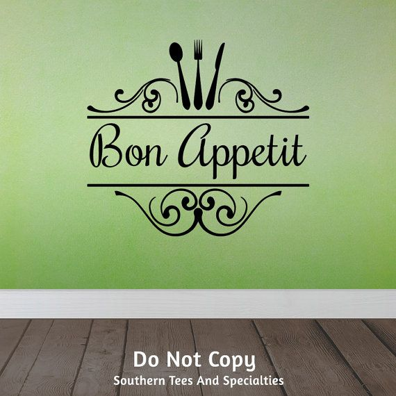 Best Awesome Vinyl Wall Decals Images On Pinterest Vinyls - Wall stickers for dining roomdining room wall decals wall decal knife spoon fork wall decal