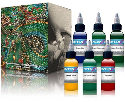 INTENZE DRAGON COLOR SET $1,125 www.artetatuaje.mx ventas@artetatuaje.mx