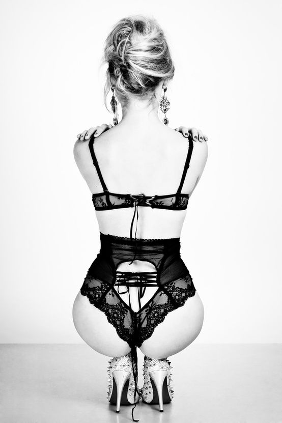 Sets:  Black Lace Bra and Matching Waist Cincher with Back Lacing.