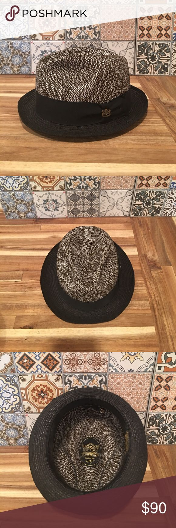 ⭐️Biltmore Madrid Panama Hat Two toned Biltmore hat perfect for summer, but wearable anytime of year! 7 3/8 size. It's technically a men's hat, but would look good on anyone! It's gently used and stored so there's no damage. Biltmore Accessories Hats