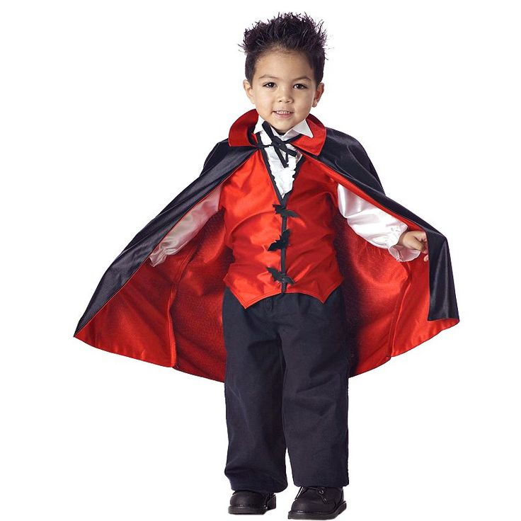 Vampire Costume - Toddler, Multicolor