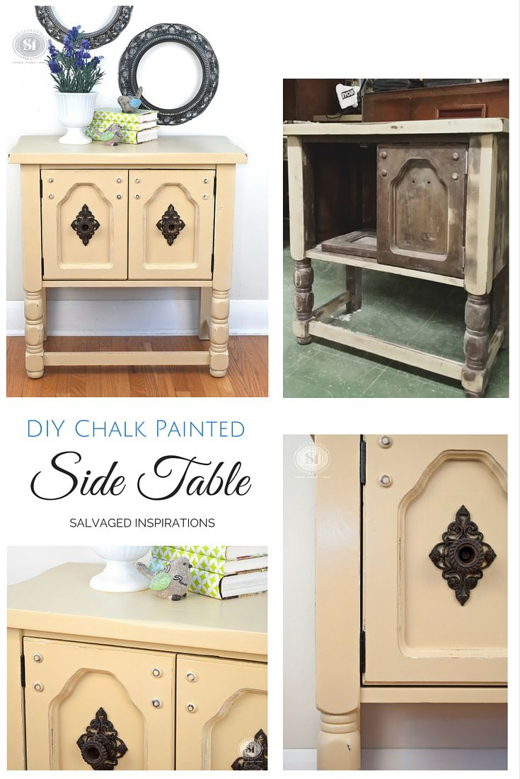 Painted furniture ideas before and after - What A Transformation This Salvaged Before And After Makes Me Smile This Little Salvaged Side Table Has Been Hanging Around For Years