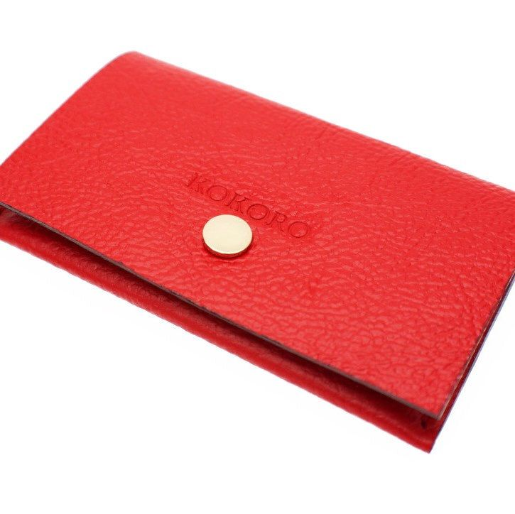 PASSION - DESIRE - LOVE WITH RED COLOUR IN NEW YEAR 2017  • PERSONALISED MINIMAL LEATHER WALLET • FREE ENGRAVED NAME