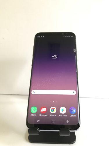 Samsung Galaxy S8+ Plus - 64GB - Gray (Unlocked) *Cracked Screen CLEAN IME1!!