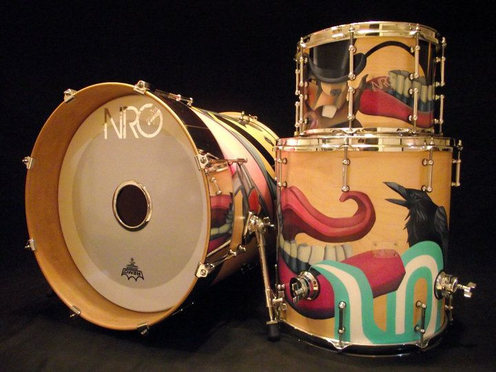 Best Drums M Drums Images On Pinterest Drum Sets - Putting paint on a drum kit creates an explosive rainbow