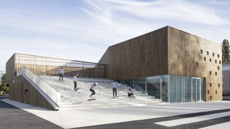 fa5ba  dezeen Cultural Center in Nevers 3 Cultural Centre Architecture in Nevers by Ateliers O S Architectes