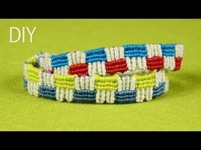 How to Make a Macrame Friendship Bracelet with Squares - YouTube