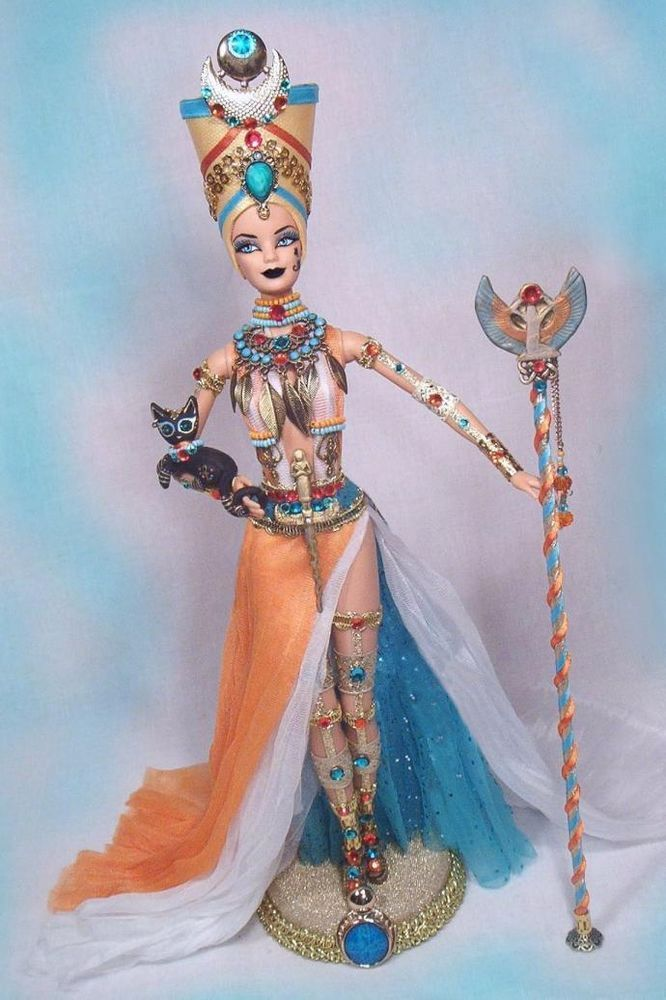Barbie Egyptian Cleopatra Nefertiti Nile Queen OOAK Altered Doll PASSION