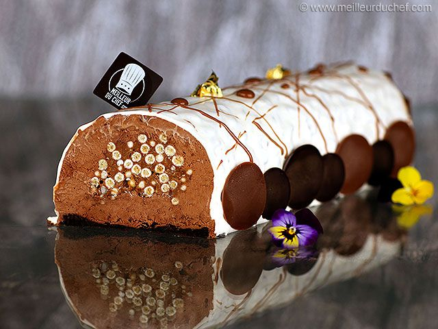 Bûche de Noël croustillante au chocolat - Meilleur du Chef
