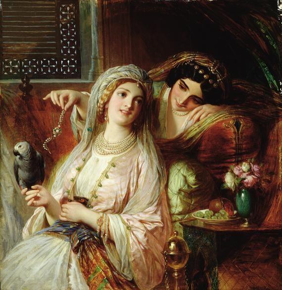 Pre Raphaelite Art: Oriental Pastime - Frank Bernard Dicksee: