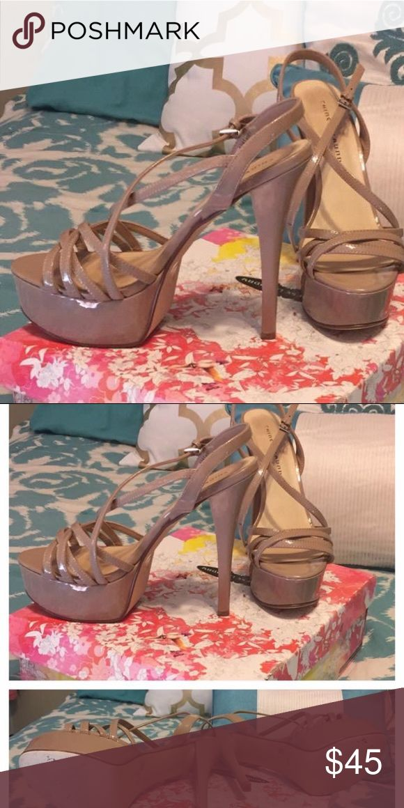 Size 10 Nude Chinese Laundry Tippy Tops Size 10  Nude  Strappy Platform Heel by Chinese Laundry Chinese Laundry Shoes Heels