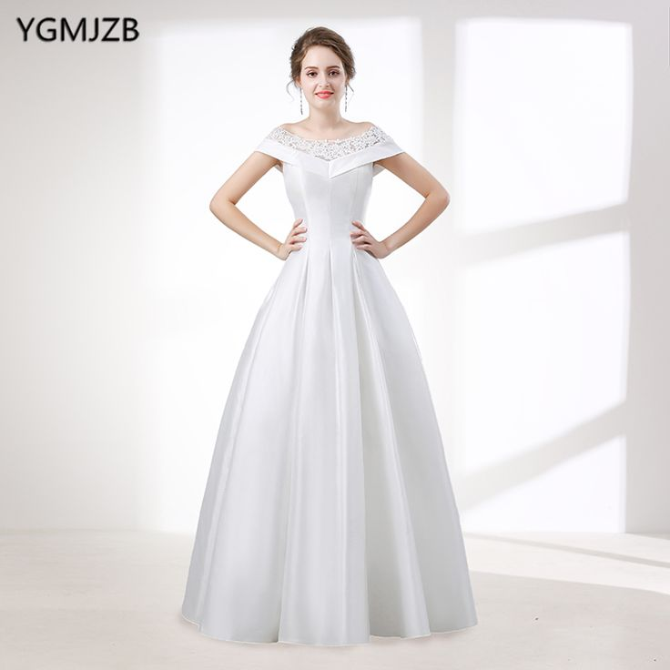 Find More Wedding Dresses Information about Elegant White A Line Wedding Dress Long 2018 Scoop Off Shoulder Beaded Lace Plus Size Wedding Gown Bridal Gown Vestido De Noiva,High Quality vestido de noiva,China vestido de noiva plus Suppliers, Cheap de noiva from Shop1404230 Store on Aliexpress.com