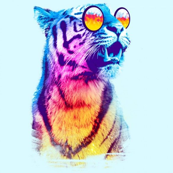 Tiger Breeze Tee Design by Artemple
