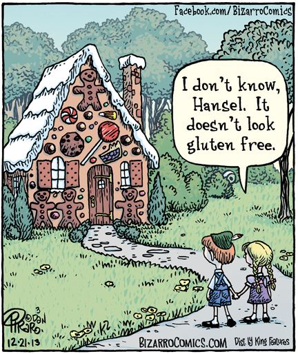 Love this!!! I wouldn't go in the house either. Gretel is totally right...Waaaayyy to much gluten.: