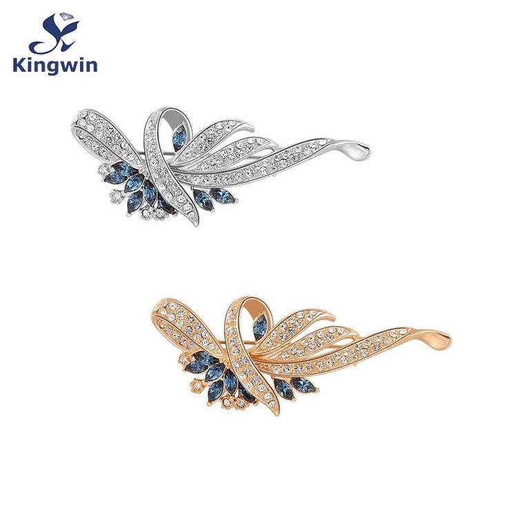 Купить Оптовая продажа мода крупных брошей для женщин чистого золота голубой…