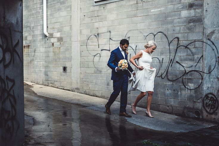 Graffiti industrial wedding Melbourne Australia photographer