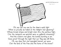 star spangled banner coloring pages - photo#10