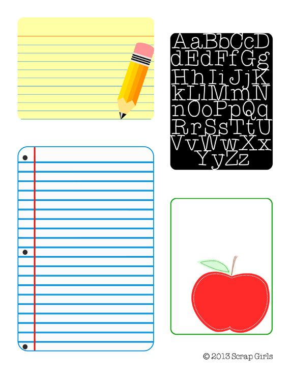 Free Back To School Journal Card Printable #printable #journalcards