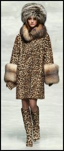 Blumarine leopard print coat and boats for Autumn 2008