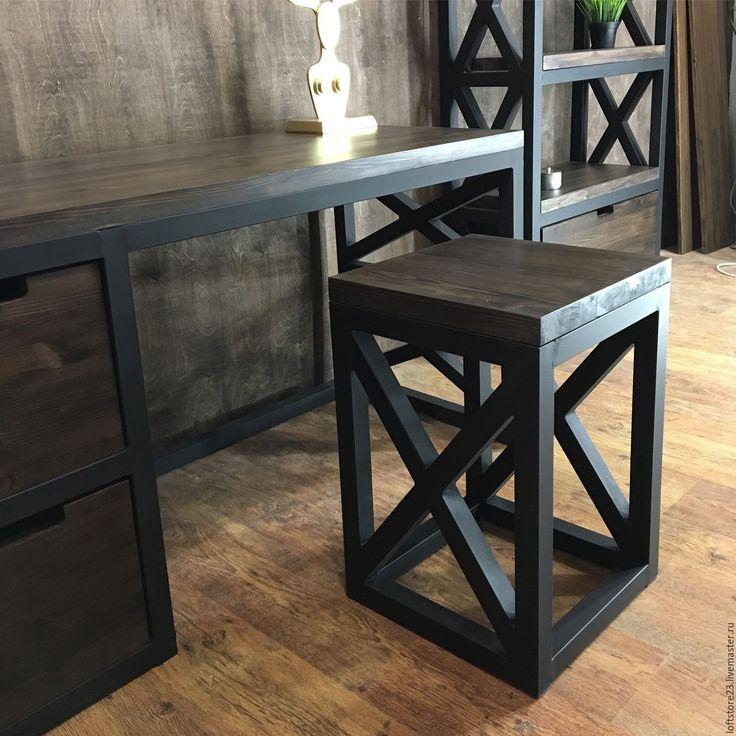 Купить Табурет BRISTOL. - комбинированный, стул, табурет, Мебель, лофт, лофт мебель, loft