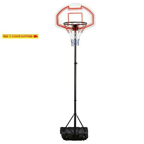 Advertisement Ebay Portable Height Adjustable Basketball Hoop System Basketball Stand Indoor Outd Adjustable Basketball Hoop Basketball Hoop Height Adjustable