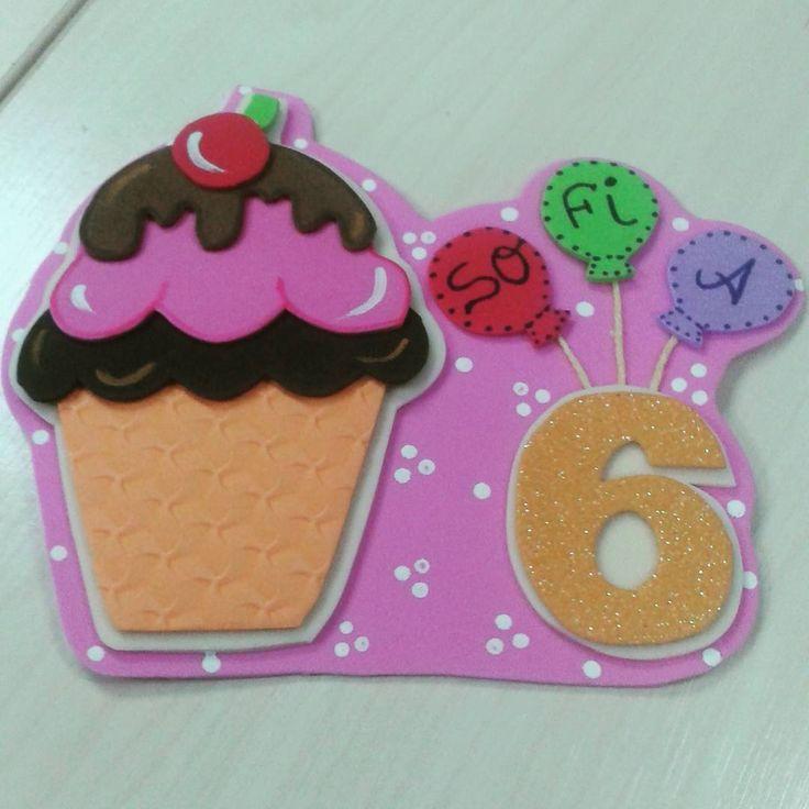 Letrero cumple mes ... Cupcakes 6 meses ...