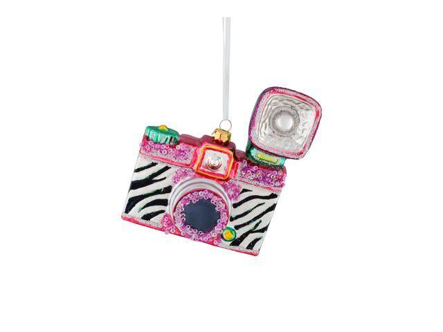 Marvelous giftpany christbaumschmuck kamera mit zebrastreifen