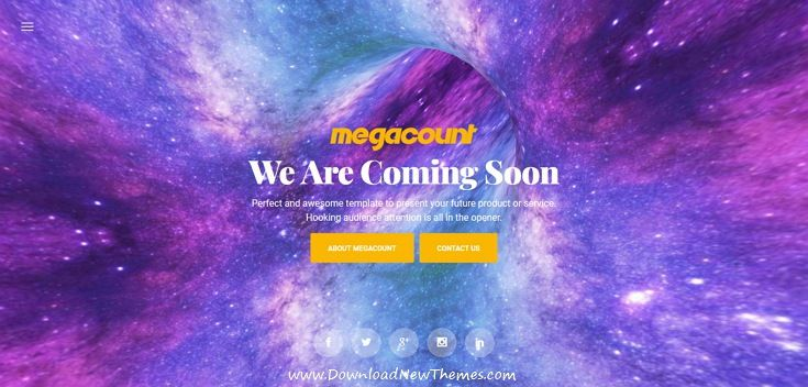 MegaCount is clean and modern design responsive #bootstrap template for creative #comingsoon / under construction website with 70+ homepage #layouts, contact #forms & countdown timer to live preview & download click on Visit 👆