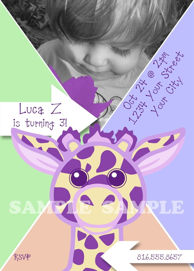 88 best Purple Giraffe Princess Party images on Pinterest ...