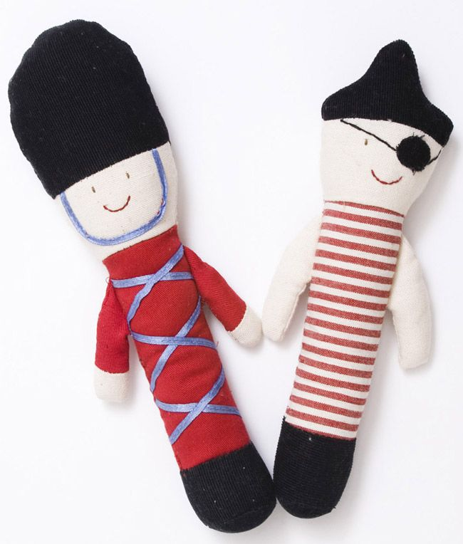 Soldier & Pirate Baby Rattle