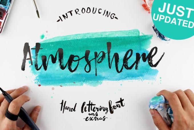 Atmosphere – Free Hand Lettering Font – Pixel Surplus