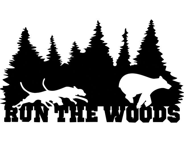 Quot Run The Woods Quot Bear Decal Coonhound Decals And Shirts