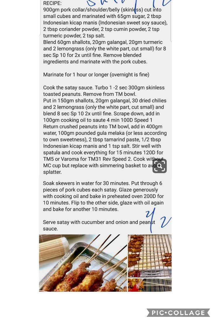 Pork Satay   Thermomix recipes, Pork satay, Recipes