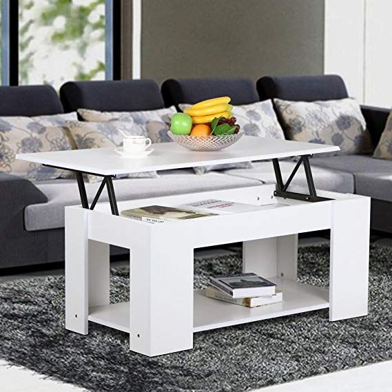 Amazon Com Yaheetech Modern Lift Up Top Tea Coffee Table W Hidden