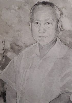 Acoustic Drawings The Shinji Ogata Gallery: A Portrait of a Chinese Man ある中国人の男性の肖像画
