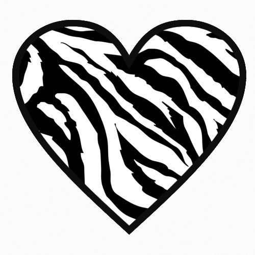Zebra Heart Laptop Car Truck Vinyl Decal Window Sticker ...