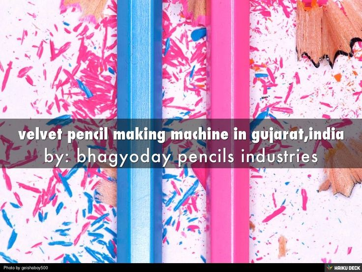 velvet pencil making machine cost in gujarat,india by BHAGYODAY ASSOCIATION via slideshare