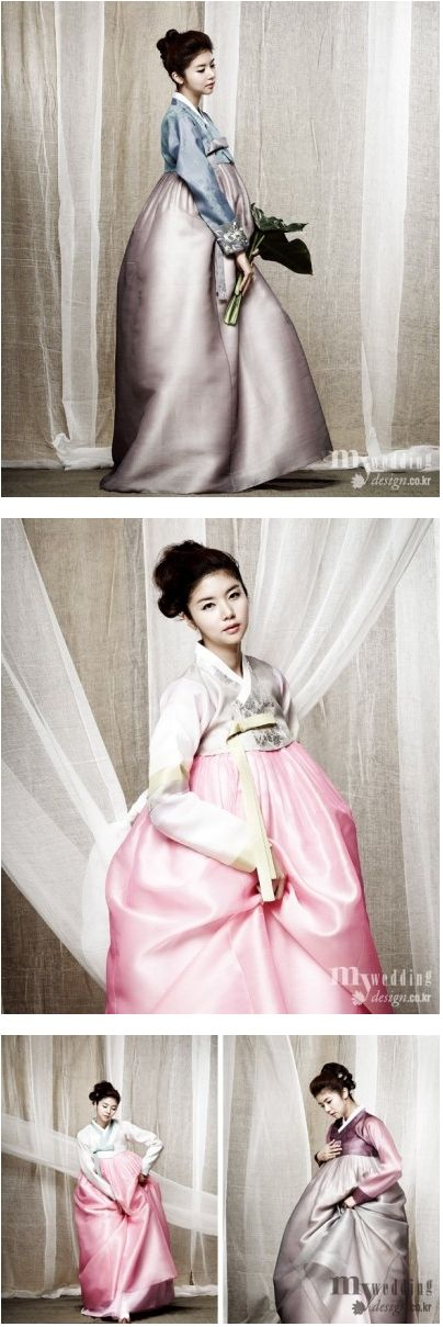 in Korean dress hanbok 3