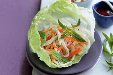 These chicken lettuce cups make a fast, fabulous and filling meal using only six ingredients!