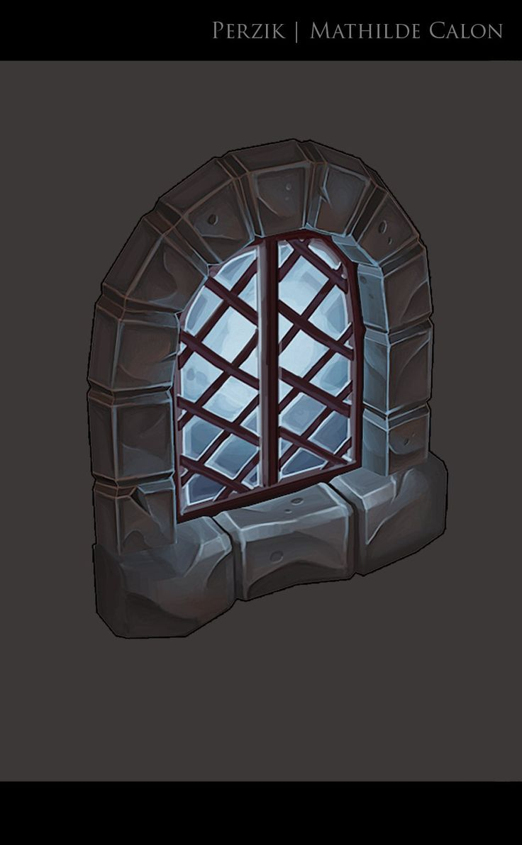 Hand painted window, Mathilde Calon on ArtStation at https://www.artstation.com/artwork/hand-painted-window