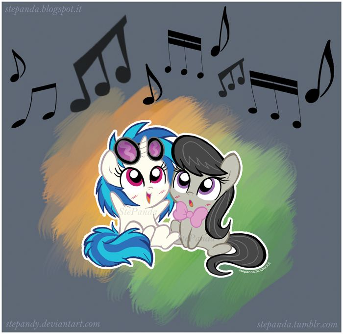 Vinyl Scratch and Octavia mlp