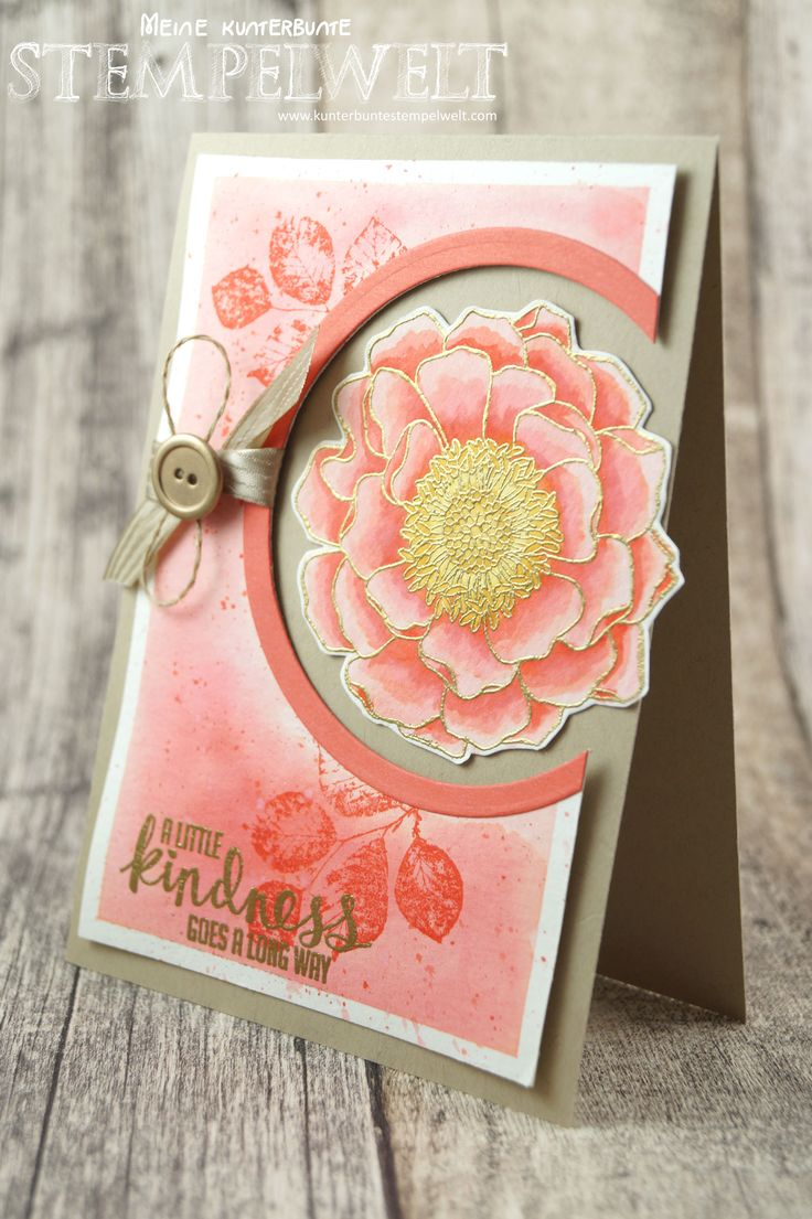 Stampin´Up!_Blended Bloom_aquarell_Kinda Eclectic_Calypso_embossing_1