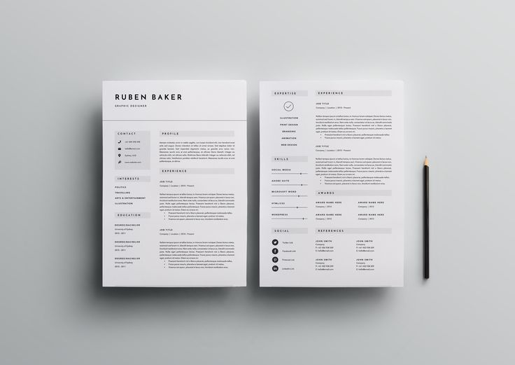 25 best 25+ Professional Resume Templates u2013 PSD,Word,Indesign,DOC - resume templates it professional